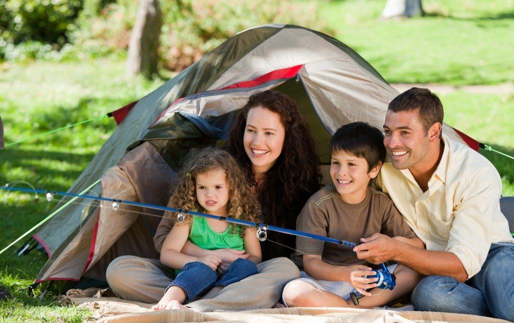Family bonding while fishing